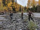 Women having fun fishing
