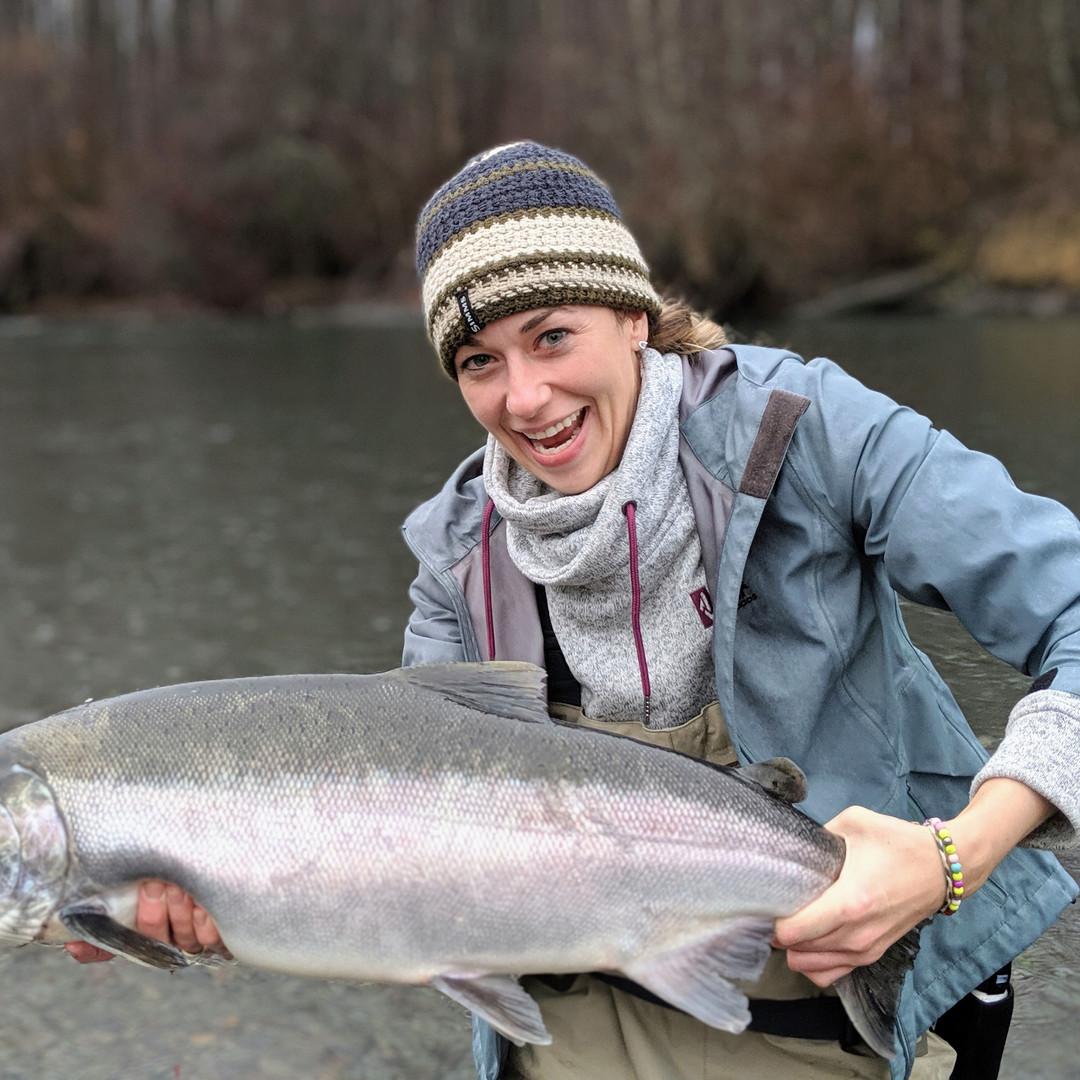 Huge Fall Coho Salmon