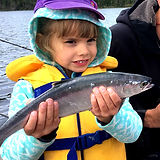 kids catching kokanee