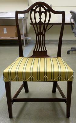 1750's chair, silk