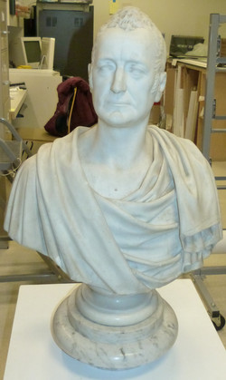 Bust of George Griswold, before treatmen