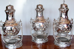 Silver urns, after treatment