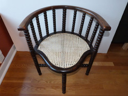 Caned corner chair