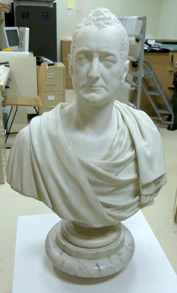 Bust of George Griswold, after treatment