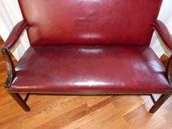 Sikorsky leather bench