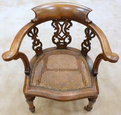 Desk Chair, original caning