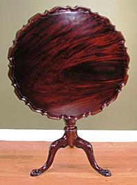 Piecrust table, mahogany, c. 1750