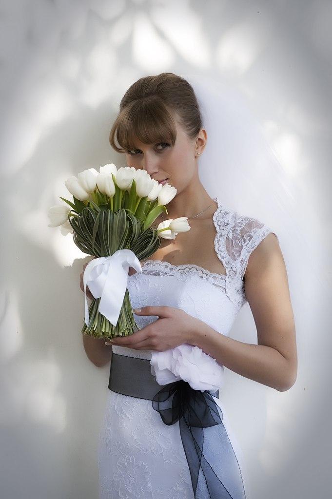 Алина в свадебном платье от Светланы