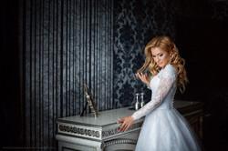 Свадебное платье с кружевными рукавами Свадебный салон Светлана