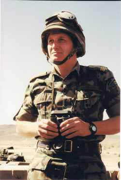 Pe timpul misiunii Fort Irwin