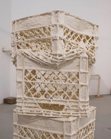 """""""Untitled (crates)"""": Polyurethane rubber, steal"""