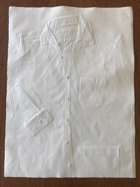 """Untitled (workshirt)"": Embossed paper"