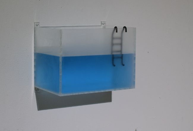 """""""The Climb"""": Plexigalss, steel, water with pigment"""