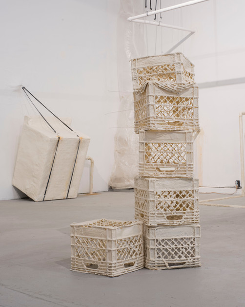 """Washing machine"" and ""Untitled (crates)"""