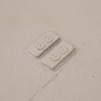 Plaster casts, floor paint