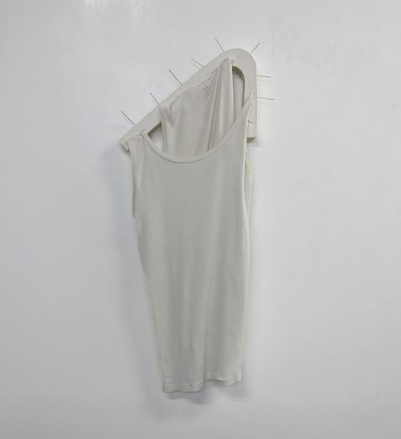 """""""Uniform"""": Plaster cast, undershirt, paper clips"""