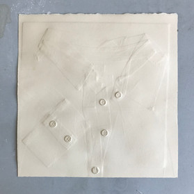 """""""Untitled (workshirt)"""": Embossed paper 11""""x11"""""""