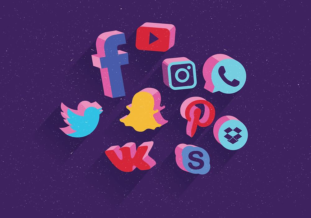 Social Media Button Widget Feature