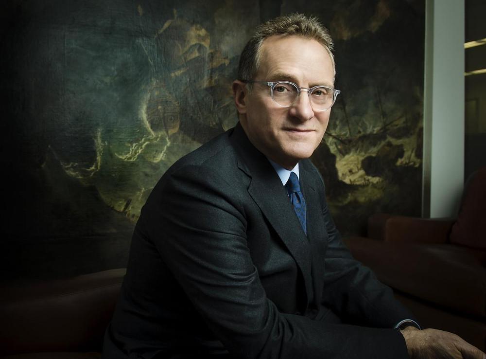 "Howard Marks – Autor dos livros ""The most important thing"" e ""Mastering the market cycle"" e co-fundador da Oaktree Capital Management"