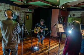 Recording Session with Russell Morris and Colleen Hewett in 2018