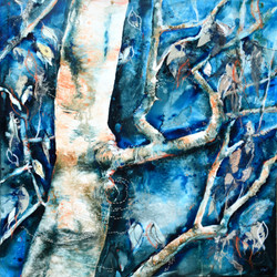 Birch Branch - Ink and Textiles