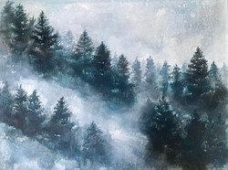 Snowing in the pines