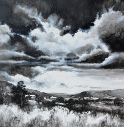 Cloudscape - Ink and Oil
