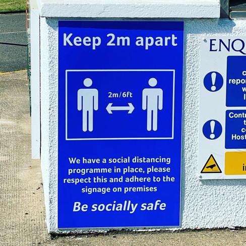 Social Distancing Signage