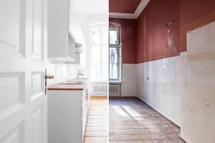 renovation concept - kitchen room befo