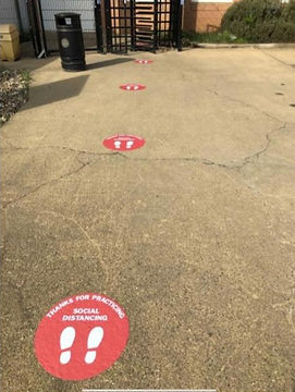 External Floor Stickers-Social Distancing
