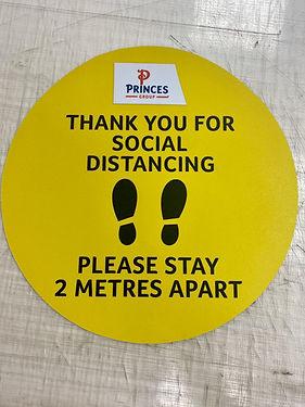 Internal Floor Sticker- Social Distancing