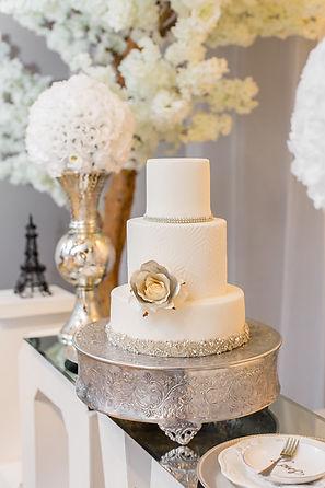 White & Silver Cake BlueSodaCake Bakery