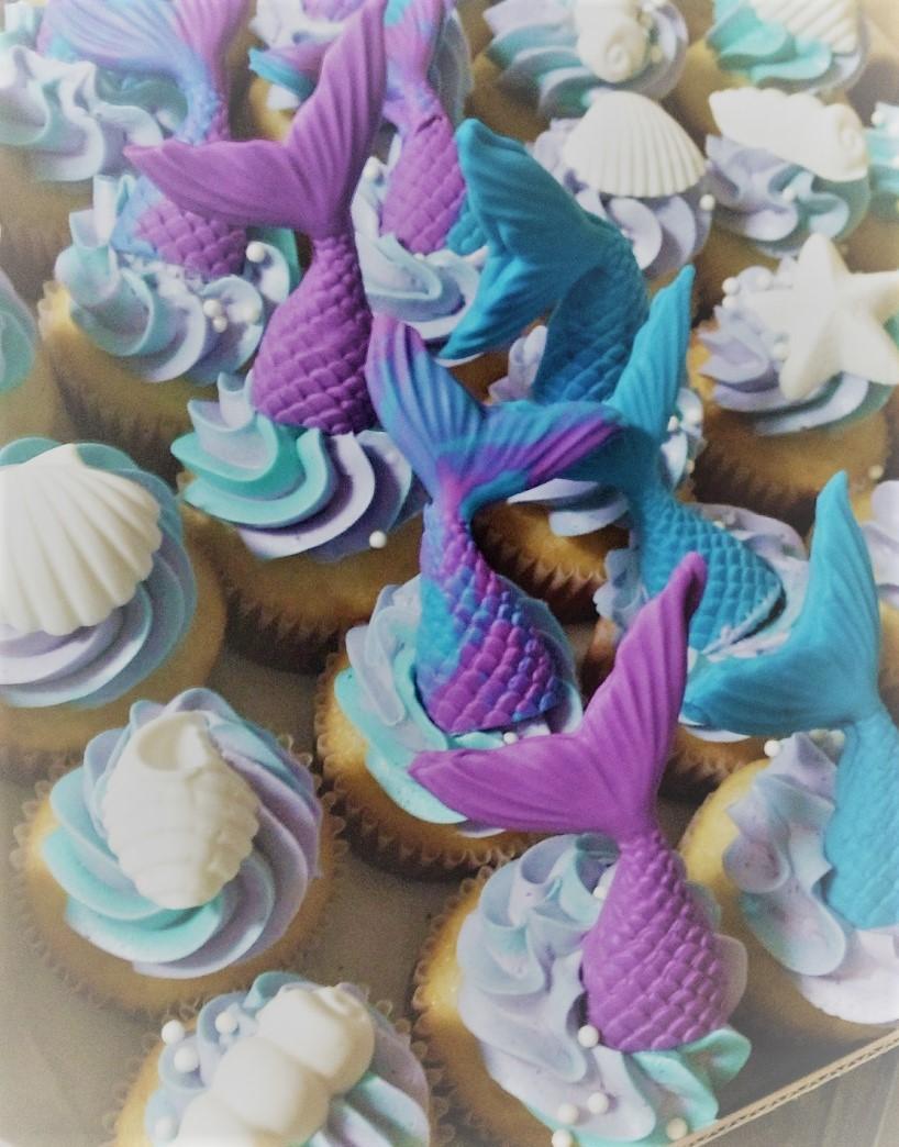 Mermaid Cupcakes North Carolina BlueSodacake