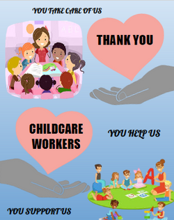 Poster, Lageera Chatheechan: Teachers & Childcare Workers