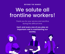 Poster, Sarina Sandhu: Frontline workers