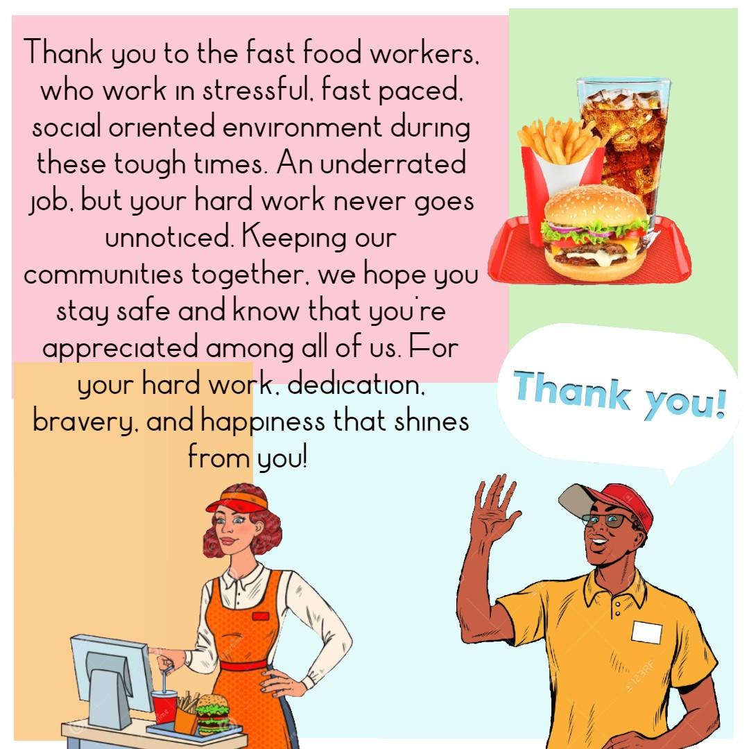 Poster, Skylar van Voorst: Fast Food Workers