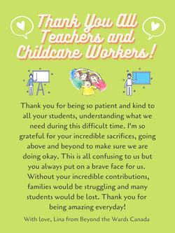 Poster, Lina Le - Teachers & Childcare Workers