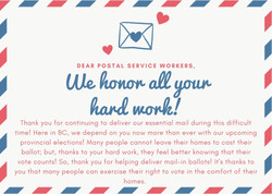 Poster, Sarina Sandhu: Postal Service Workers