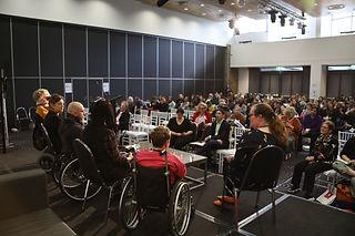 Morwenna faciliating a panel at Arts Act