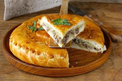 Пирог со свининой и картофелем