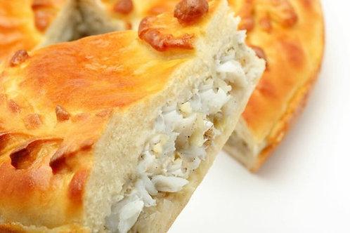 Пирог с морским языком и рисом