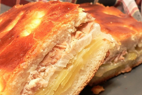 Пирог с горбушей и картофелем