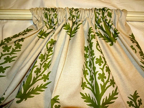 Bella Tree Green Drapery Panels