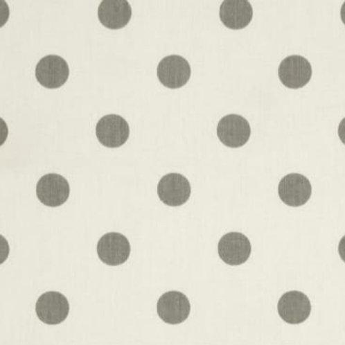 Polka Dots Twill White/Storm