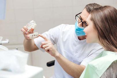 hasta ve diş hekimi foto