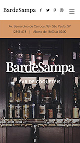 Bares e Clubes website templates – Bar de Coquetéis