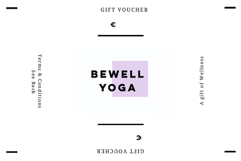 BeWell Yoga Gift Voucher (6xClasses)