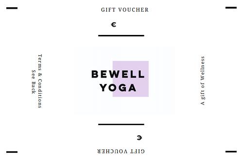 BeWell Yoga Gift Voucher (1xClass)