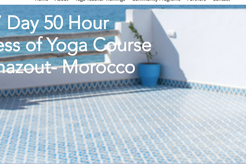 50 Hour Business of Yoga Course-Morocco