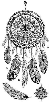 tatouage éphémère femme attrape rêve